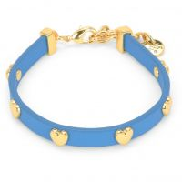 femme Juicy Couture Jewellery Layered In Couture Heart Leather Bracelet Watch WJW734-422