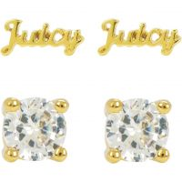 Juicy Couture Dam Juicy Expressions Stud Earring Set PVD guldpläterad WJW739-710
