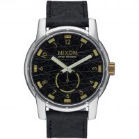 Nixon The Patriot Leather Herenhorloge Zwart A938-2222