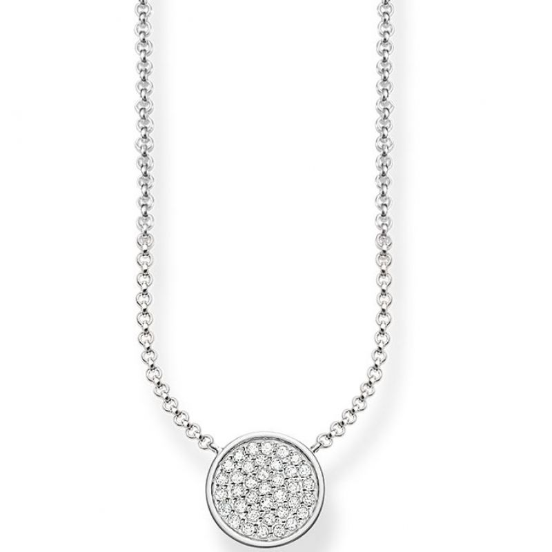 Ladies Thomas Sabo Sterling Silver SPARKLING CIRCLES NECKLACE KE1491-051-14-L45V