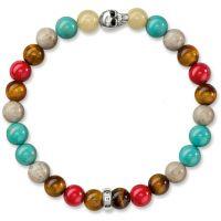 Thomas Sabo Sterling Silver Rebel At Heart Skull Bracelet A1514-883-7-L17
