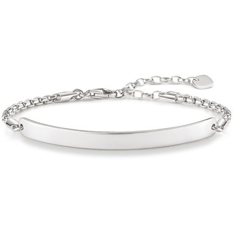 Ladies Thomas Sabo Sterling Silver Love Bridge Bracelet LBA0047-001-12-L19.5V