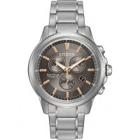 Herren Citizen Titanium Chronograph Eco-Drive Watch AT2340-56H