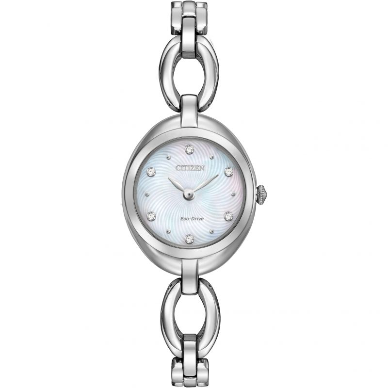Ladies Citizen Silhouette Crystal Watch EX1430-56D