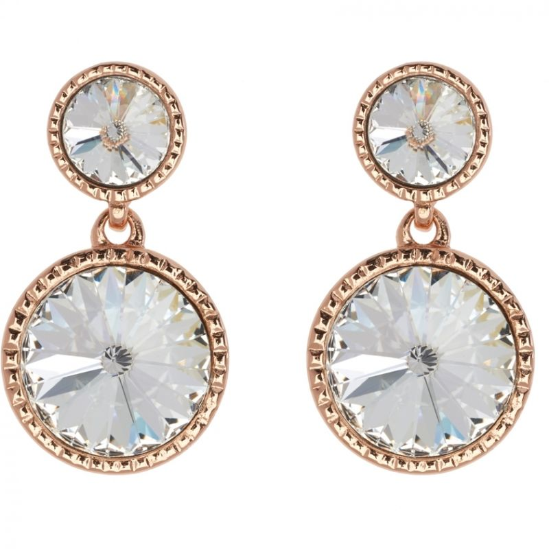 Ladies Ted Baker PVD rose plating RONDA RIVOLI CRYSTAL EARRING TBJ1162-24-02