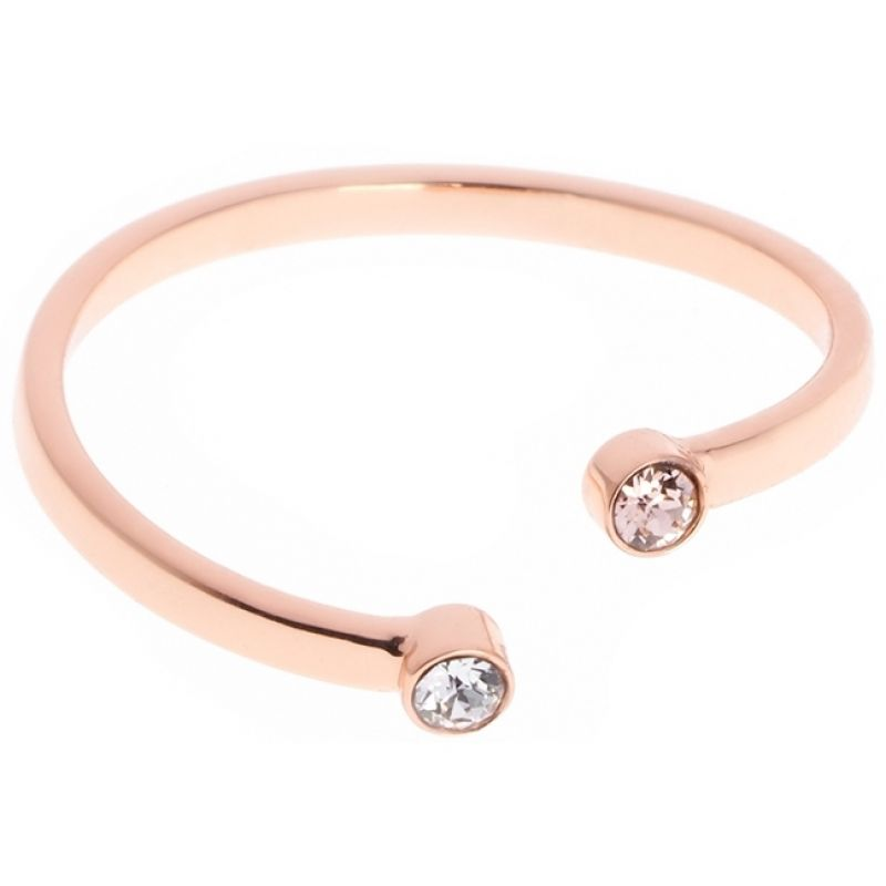 Ladies Karen Millen PVD rose plating Medium/Large TINY DOT RING KMJ893-24-07ML