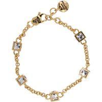 Damen Juicy Couture PVD Gold überzogen ICONIC CUBES BRACELET
