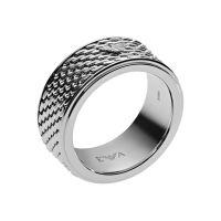 Herren Emporio Armani Gunmetal PVD Größe V Ring
