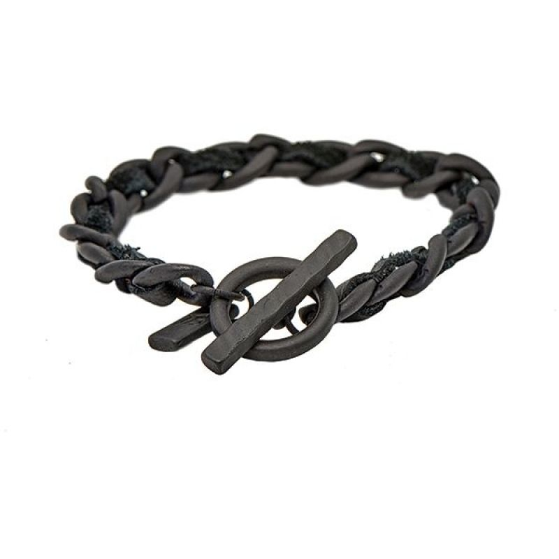 Icon Brand Base metal Premium Ready Made Bracelet P1041-BR-BLK