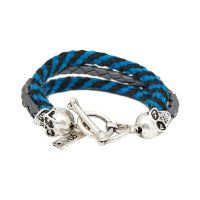 Biżuteria uniwersalne Icon Brand Jewellery Band Of Skulls Bracelet LE1123-BR-NVY