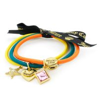 femme Juicy Couture Jewellery Set Of 3 Charmy Hair Elastics Watch WJW950-753-U