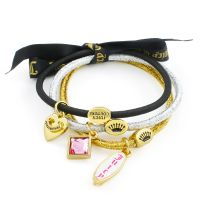 Gioielli da Donna Juicy Couture Jewellery Set Of 3 Charmy Hair Elastics WJW951-711-U