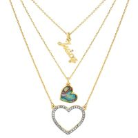 Juicy Couture Jewellery Mother Of Pearl Heart Double Strand Necklace JEWEL