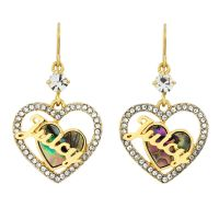 femme Juicy Couture Jewellery Mother Of Pearl Heart Hoop Earrings Watch WJW864-710-U
