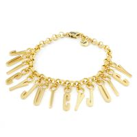 Ladies Juicy Couture Gold Plated Stacked Juicy Charm Bracelet WJW870-710-U