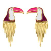 Ladies Juicy Couture Gold Plated Ipanema Toucan Stud Earrings WJW855-710-U