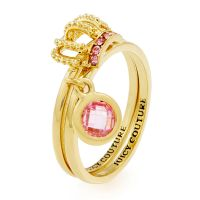 Juicy Couture Dames Juicy Crown Ring Set Verguld goud WJW893-710-6