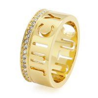 Damen Juicy Couture vergoldet Juicy Tags Ring