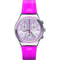 Unisex Swatch eisern Chrono -Proud To sein Pink Chronograf Uhr