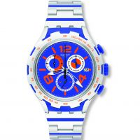 Unisex Swatch Irony X-Lite -Chemical Blue Chronograph Watch