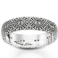 femme Thomas Sabo Jewellery Ethno Ornamentation Ring Watch TR2092-643-14-50