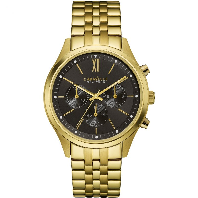 Mens Caravelle New York Chronograph Watch 44A108
