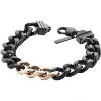 Herren Police Schwarz ionenbeschichteter Stahl Bichrome Armband