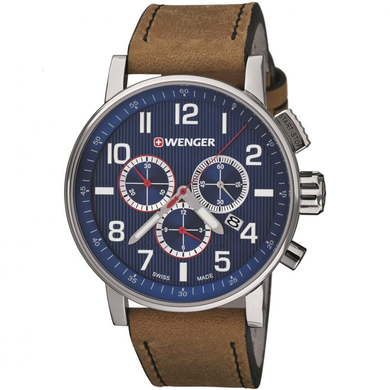 Mens Wenger Attitude Chrono Chronograph Watch 010343101