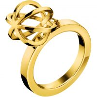 Ladies Calvin Klein PVD Gold plated Ring Size O KJ4XJR100207