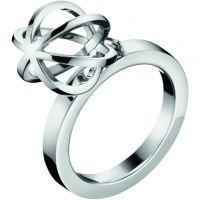 Damen Calvin Klein Edelstahl Ring Größe L.5