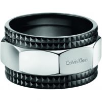 Ladies Calvin Klein Black Ion-plated Steel Size T/U High Ring