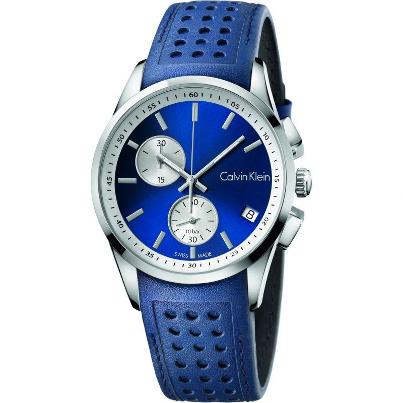 Herren Calvin Klein BOLD Chronograph Watch K5A371VN