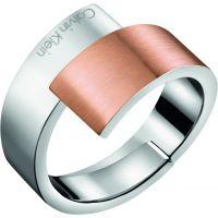 Damen Calvin Klein zwei-Tone Steel und Rose Plate INTENSE RING SIZE J