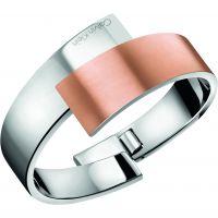 Damen Calvin Klein zwei-Tone Steel und Rose Plate INTENSE BANGLE SIZE S