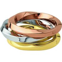 Ladies Calvin Klein Two-tone steel/gold plate Size P Exclusive Ring
