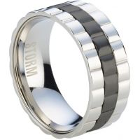 Mens STORM Stainless Steel Velo Ring Size U