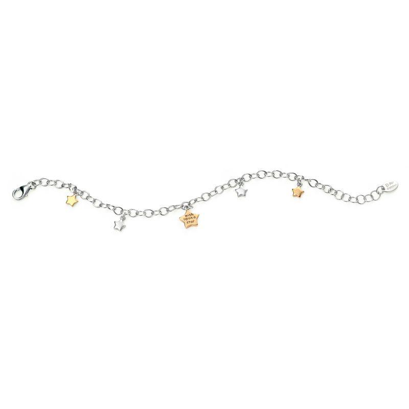 Childrens D For Diamond Sterling Silver Bracelet B4664