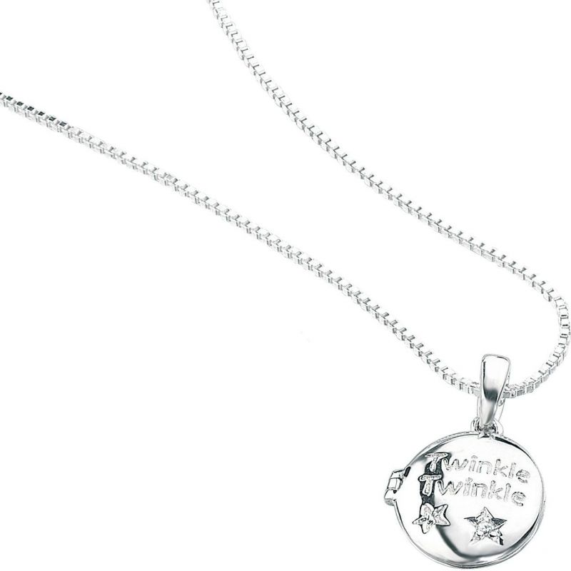 Childrens D For Diamond Sterling Silver Necklace P3724