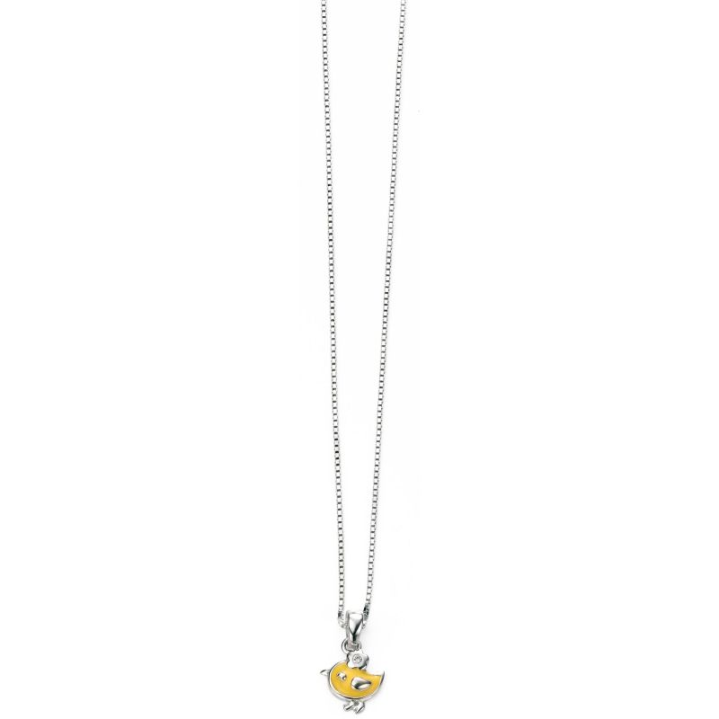 Childrens D For Diamond Sterling Silver Necklace P4242