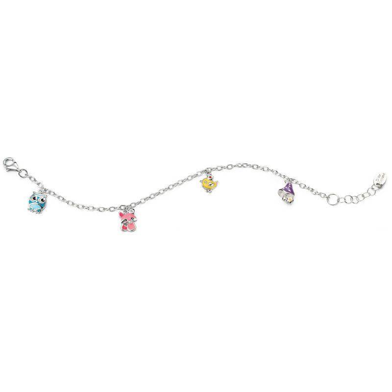 Childrens D For Diamond Sterling Silver Bracelet B4663