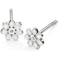 Ladies D For Diamond Sterling Silver Earrings E4122
