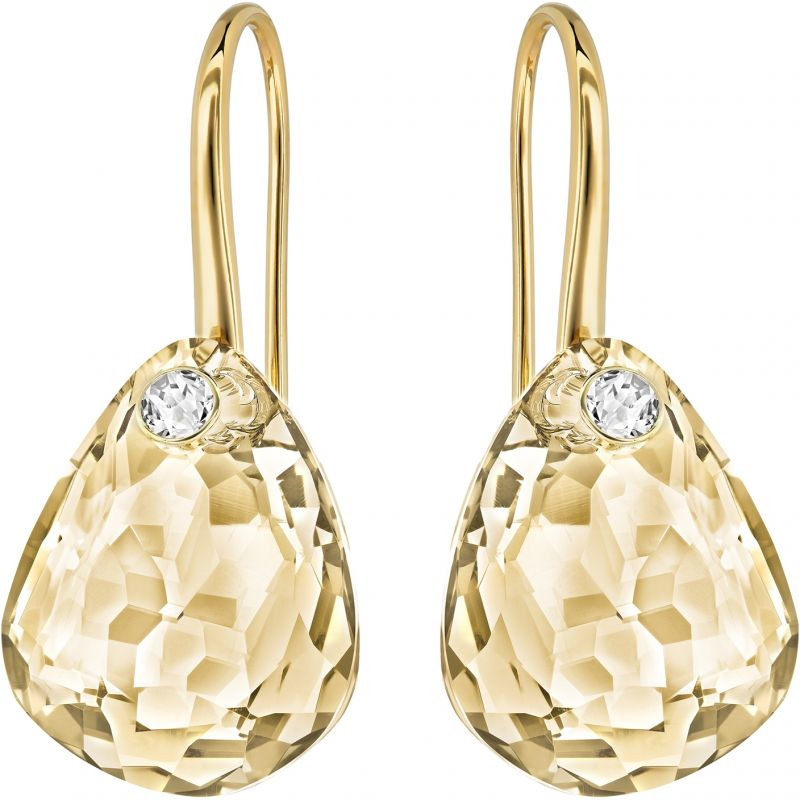 Ladies Swarovski PVD Gold plated Parallele Earrings 5192315