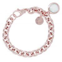 femme Bronzallure Aqua Chalcedony Charm Bracelet Watch WSBZ00027.LB