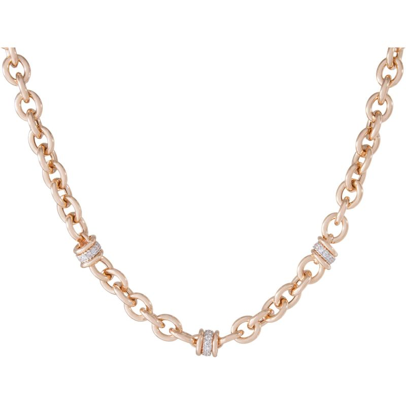 Ladies Bronzallure 18ct Gold Plated Bronze Necklace WSBZ00520.R