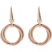 Ladies Bronzallure 18ct Gold Plated Bronze Earrings