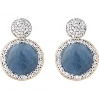 femme Bronzallure Aqua Chalcedony Earrings Watch WSBZ00677.ALB