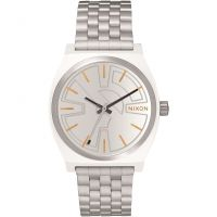 Unisex Nixon The Time Teller SW BB-8 Silver / Orange Watch