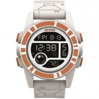 Nixon The Unit 40 SW BB-8 White / Orange Herenchronograaf Wit A490SW-2606