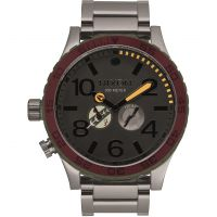 Herren Nixon The 51-30 SW Boba Fett Red / Gray Chronograph Watch A172SW-2241