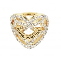 Ladies Juicy Couture PVD Gold plated Pave Open Heart Ring